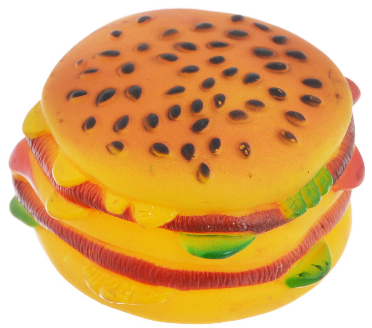 Игрушка для животных Каскад Гамбургер,диаметр 7,5 см0120710Игрушка Каскад Гамбургер изготовлена из прочной и долговечной резины, устойчивой к разгрызанию. Необычная и забавная игрушка прекрасно подойдет для собак, любящих игрушки с пищалками. Такая игрушка порадует вашего любимца, а вам доставит массу приятных эмоций, ведь наблюдать за игрой всегда интересно и приятно. Диаметр: 7,5 см.