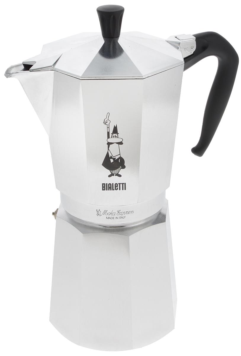 Кофеварка гейзерная Bialetti Moka Express, на 18 чашек1167Стильный дизайн гейзерной кофеварки Bialetti Moka Express станет ярким элементом интерьера вашего дома! Кофеварка выполнена из алюминия, а ручка - из пластика. Объема кофе хватает на 18 чашек. Принцип работы такой гейзерной кофеварки - кофе заваривается путем многократного прохождения горячей воды или пара через слой молотого кофе. Удобство кофеварки в том, что вся кофейная гуща остается во внутренней емкости. Гейзерные кофеварки пользуются большой популярностью благодаря изысканному аромату. Кофе получается крепкий и насыщенный. Теперь и дома вы сможете насладиться великолепным эспрессо. Высота кофеварки (с учетом крышки): 31 см. Диаметр основания: 12 см.