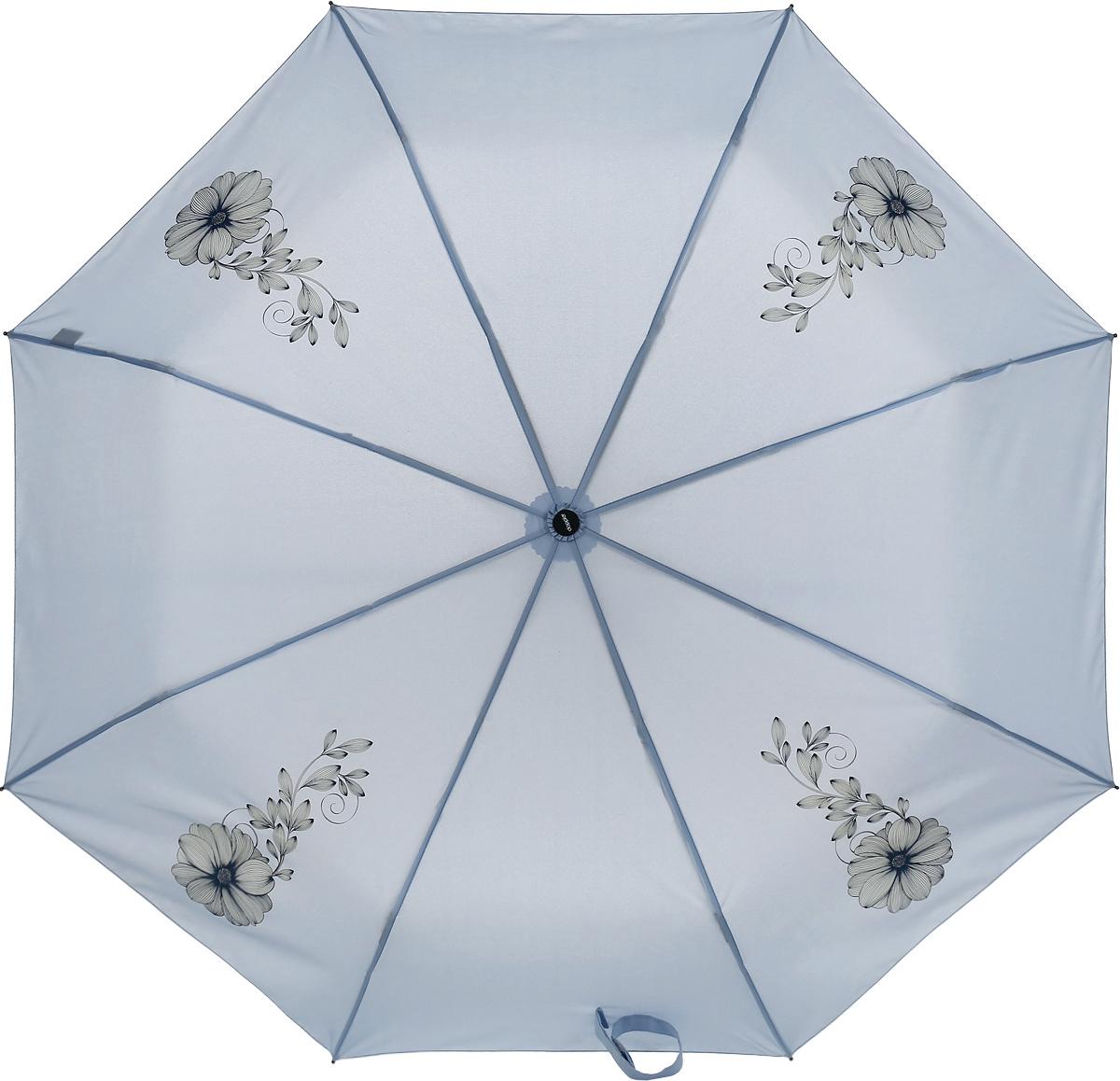 Doppler Зонт Flowers, 3 сложения, система антиветер, лакированная ручка. 7441465F blue7441465F blueЗонт Doppler, всемирно известный бренд, имеющий многолетнюю традицию.