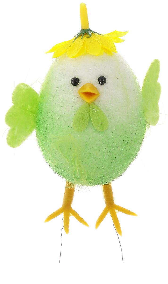 Декоративное украшение Home Queen Приветливый цыпленок, цвет: салатовый, 7 х 4,5 х 10 см60838_салатовыйДекоративное украшение Home Queen Приветливый цыпленок изготовлено из пера, полиэстера и пластика. Украшение выполнено в виде милого цыпленка. Такое украшение прекрасно оформит интерьер дома или станет замечательным подарком для друзей и близких на Пасху.