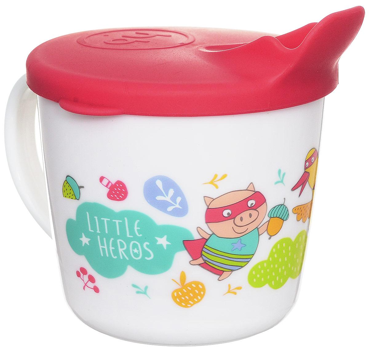Happy Baby Чашка-поильник Поросенок Гусь Лиса от 8 месяцев