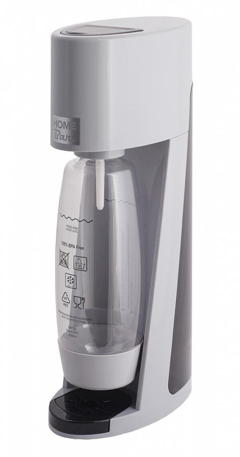 Сифон Home Bar Elixir Turbo NG, без баллона, цвет: серыйVT-1520(SR)Сифон для газирования воды Elixir Turbo NG – это модель класса люкс в линейке аппаратов HOME BAR. Благодаря усовершенствованной системе газирования Турбо выброс газа стал больше, а специальная бутылка каплевидной формы, объемом 1,5 л обеспечивает быстрое и полное растворение углекислого газа в воде. Предназначен для газирования чистой охлажденной воды.Рекомендуемая температура воды 50С.Для приготовления напитка сироп рекомендуется наливать в отдельную емкость.Автоматический сброс давления.Не требует электроэнергии.Совместим с баллонами SODASTREAM.Вкручивающийся разъем для установки баллона.Состав бутылки не содержит бисфенол A.Совместимость с 1л и 1,5 л бутылкой.Цвет: серый с черными вставками.Комплект: бутылка 1,5 л.Съемный поддон для капель.Страна производства: ИТАЛИЯ / КНР.Гарантия: 2 года.* Внимание! Для использования сифона требуется баллон 425г. на 60 литров воды. Приобретается отдельно.