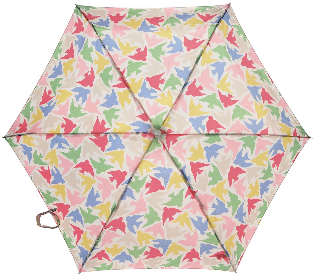 """Зонт женский Fulton """"Cath Kidston"""", механический, 5 сложений, цвет: мультиколор. L521-3129 L521-3129 SmallGraphicBird"""