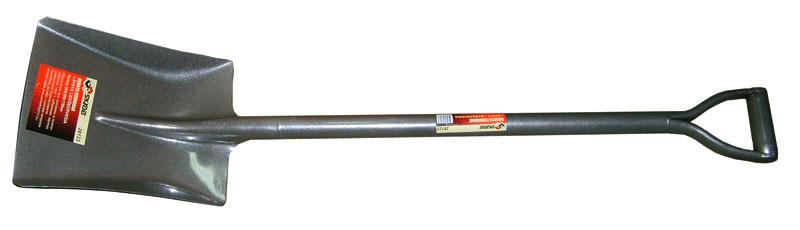 Лопата Skrab совковая. 2812328123Лопата совковая (металлический черенок). Размер: 260х300х1100мм. Металлическая часть изготовлена из высокоуглеродистой стали с добавлением марганца. Закалена и имеет защитное покрытие. V-образная ручка. Применяется для выполнения земляных и строительных работ с сыпучими материалами (песок, гравий, уголь, рыхлый грунт и т.д.).