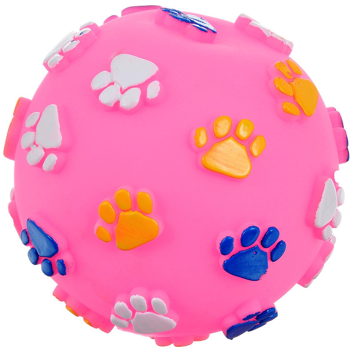 Игрушка для животных Каскад Мяч. Лапки, цвет: розовый, белый, желтый, с пищалкой, диаметр 12,5 см27754622Игрушка Каскад Мяч. Лапки изготовлена из прочной и долговечной резины, устойчивой к разгрызанию. Необычная и забавная игрушка прекрасно подойдет для собак, любящих игрушки с пищалками. Такая игрушка порадует вашего любимца, а вам доставит массу приятных эмоций, ведь наблюдать за игрой всегда интересно и приятно. Диаметр: 12,5 см.
