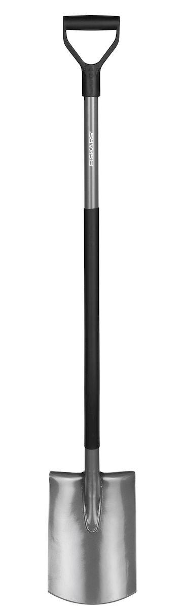 Лопата садовая Fiskars Ergonomic, с закругленным лезвием, 125 см531-401Конструкция лопаты Fiskars Ergonomic позволяет садоводу сохранить правильное положение тела в процессе работы. Угол подъема в 26° минимизирует нагрузку на спину и плечи. Длинный, полый стальной черенок имеет пластиковое покрытие, защищающее от холода, а рукоятка, расположенная к черенку под углом 17°, гарантирует руке удобный и естественный хват.Особенности:Прямое лезвие позволяет легко обрабатывать кромку газона, копать и разрыхлять землю.Рукоятка в форме буквы Y обеспечиваетнадежный захват.Сварное соединение между лезвием и черенком обеспечивает прочность инструмента.Пластиковый чулок на черенке защищает инструмент от холода.Использование борсодержащей стали придает лопате дополнительную жесткость и обеспечивает легкое проникновение в почву.