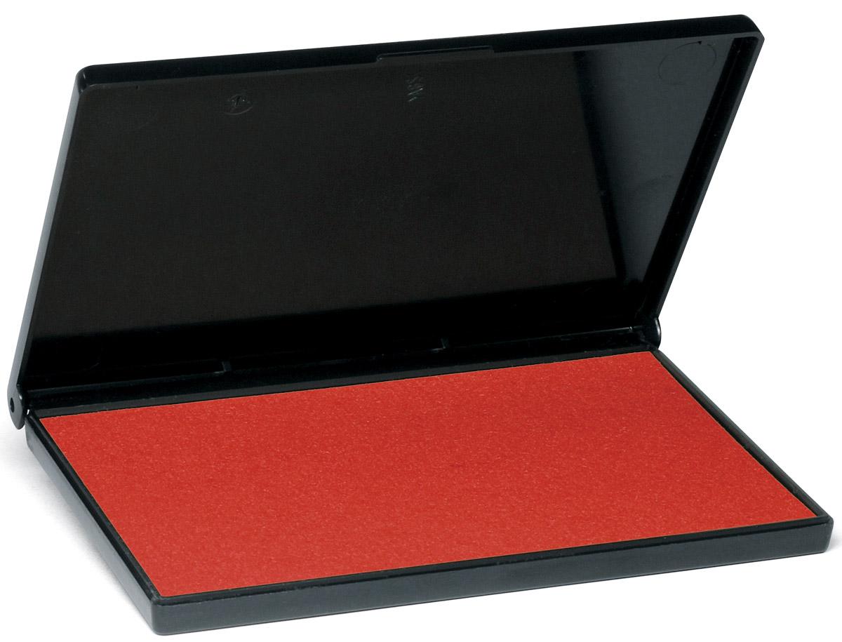 Trodat Штемпельная подушка красная 11х7 см9052/КЗаполнена краской на водной основе. Используется для окрашивания ручных штампов, изготовленных из резины и полимера. Размер 110х70 мм. Цвет - красный