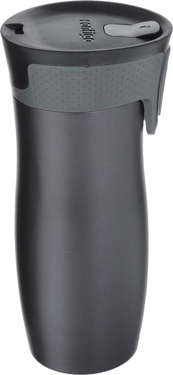 Термокружка Contigo West Loop, цвет: серый, черный, 470 млcontigo0579Термокружка Contigo West Loop, изготовленная из высококачественной нержавеющей стали и пищевого пластика, подходит как для холодных, так и для горячих напитков. Изделие оснащено крышкой с открывающимся клапаном, который предохранит от проливания. Диаметр (по верхнему краю): 6,5 см. Высота кружки (с учетом крышки): 20 см.
