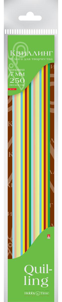 Альт Бумага для квиллинга 7 мм 250 полос 10 цветов2-076Цветная бумага для квиллинга Альт разработана для создания объемных композиций, украшений для открыток и фоторамок. Набор из 250 полосок включает 10 ярких, насыщенных цветов (по 25 штук каждого). Высокая плотность позволяет готовым спиральным элементам держать форму, не раскручиваясь и не деформируясь. Ширина полосок составляет 7 мм. Тонированная в массе бумага предназначена для скручивания в спирали с последующим приданием нужной формы.