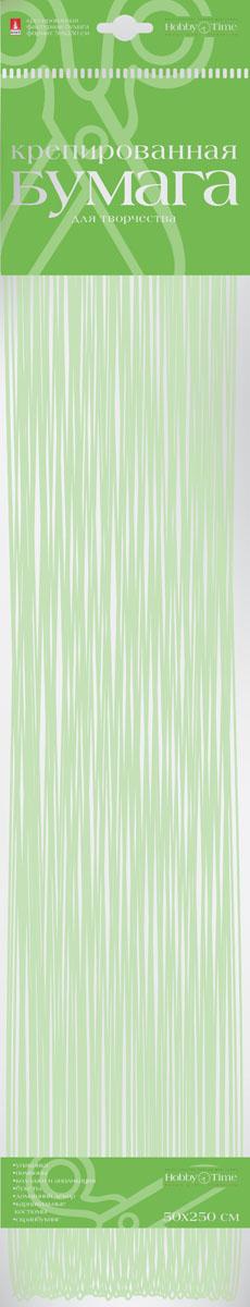 Альт Бумага креповая Перламутровая цвет салатовый72523WDКреповая бумага Альт Перламутровая - подходящий материал для декора, объемных украшений и игрушек. Гофрированная жатая поверхность обеспечивает особую пластичность. Бумага не деформируется, сохраняет заданную форму, отлично сочетается с текстильными лентами, декоративными элементами. Размер листа: 50 см х 250 см.