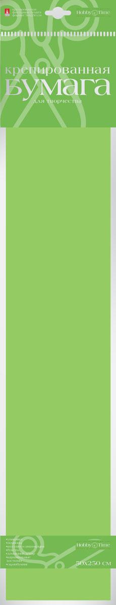 Альт Бумага креповая Флюоресцентная цвет зеленый2-059/01Креповая бумага Альт Флюоресцентная - подходящий материал для декора, объемных украшений и игрушек. Гофрированная жатая поверхность обеспечивает особую пластичность. Бумага не деформируется, сохраняет заданную форму, отлично сочетается с текстильными лентами, декоративными элементами. Необычный флуоресцентный эффект создает легкое сияние, которое поможет создать атмосферу праздника. Размер листа: 50 см х 250 см.