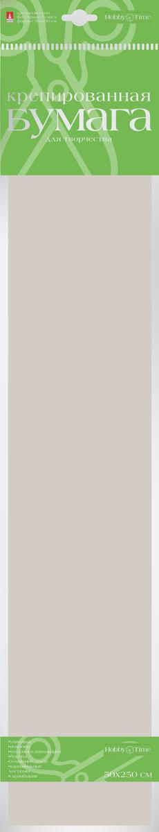 Альт Бумага креповая Пастельные цвета цвет серебристый серый72523WDКреповая бумага Альт Пастельные цвета - подходящий материал для декора, объемных украшений и игрушек. Гофрированная жатая поверхность обеспечивает особую пластичность. Бумага не деформируется, сохраняет заданную форму, отлично сочетается с текстильными лентами, декоративными элементами. Размер листа: 50 см х 250 см.