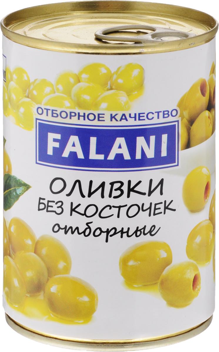FALANI оливки отборные крупные без косточки, 390 г0120710FALANI - отборные, крупные оливки без косточек от лучших производителей Испании. Оливки богаты белками, пектинами, сахарами, витаминами: В, С, Е, Р-активными катехинами, содержат соли калия, фосфора, железа и других элементов. Кроме того, в плодах оливы найдены углеводы, фенолкарбоновые кислоты, тритерпеновые сапонины.Оливки FALANI подойдут для украшения блюд, изготовления большого количества закусок и салатов, на их основе можно приготовить разнообразные соусы, добавить в пиццу и пироги, подать как самостоятельную закуску к винам.