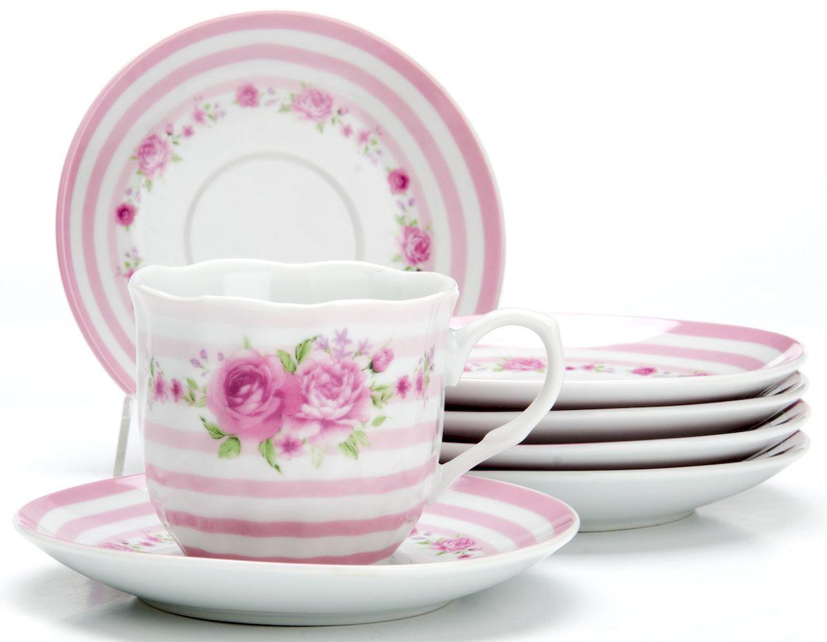 Чайный сервиз Loraine Цветы, 220 мл, 12 предметов. 2591125911