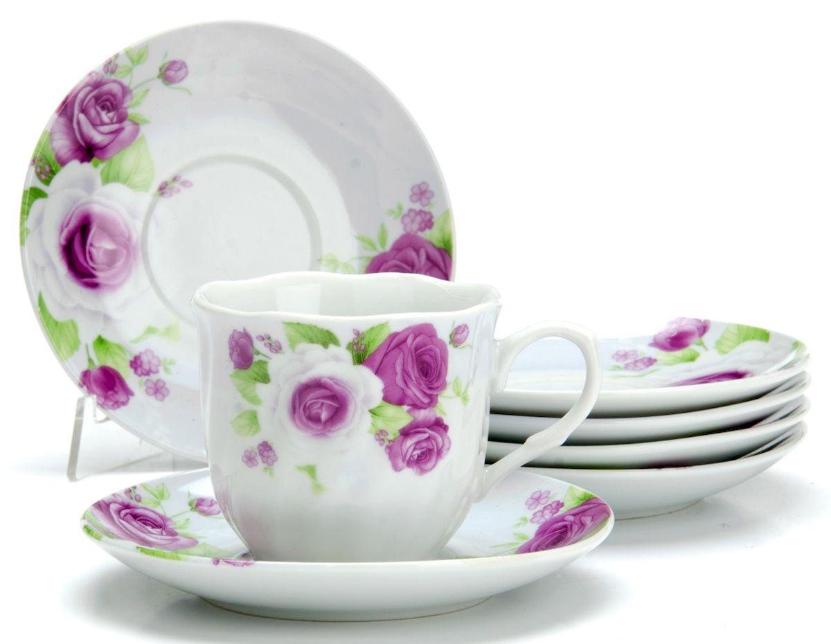 Чайный сервиз Loraine Цветы, 220 мл, 12 предметов. 2591425914