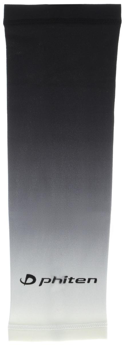 Рукав силовой Phiten X30, цвет: черный, серый, белый. Размер S (19-25 см). SL528003QNT1054Силовой рукав Phiten X30, выполненный из 85% полиэстера и 15% полиуретана, идеально подходит для поддержки и увеличения силы мышц (плеча/предплечия) спортсменов. Рукав снимает мышечное напряжение, повышает выносливость и силу мышц. Он мягко фиксирует суставы, но при этом абсолютно не стесняет движения.Пропитка Aqua Titan с фактором X30 увеличивает эластичность мышц и связок, а также хорошо поглощает и испарять пот, что позволяет продлить ощущение комфорта при тренировках.Изделие специально разработано таким образом, чтобы соответствовать форме руки и обеспечить плотное прилегание, а благодаря инновационным материалам, рукав действительно поможет вам в процессе тяжелой тренировки или любой серьезной нагрузки.Силовой рукав Phiten X30 способствует:- улучшению циркуляции крови в организме;- разгрузке поврежденного сустава; - уменьшению усталости;- снятию излишнего напряжения и скорейшему восстановлению сил;- обеспечивает компрессионный эффект.