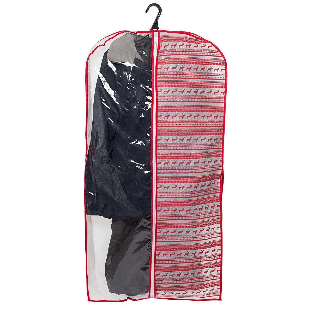 Чехол для одежды Homsu Scandinavia, подвесной, с прозрачной вставкой, 120 x 60 x 10 смHOM-205Подвесной чехол для одежды Homsu Scandinavia на застежке-молнии выполнен из высококачественного нетканого материала. Чехол снабжен прозрачной вставкой из ПВХ, что позволяет легко просматривать содержимое. Изделие подходит для длительного хранения вещей. Чехол обеспечит вашей одежде надежную защиту от влажности, повреждений и грязи при транспортировке, от запыления при хранении и проникновения моли. Чехол позволяет воздуху свободно поступать внутрь вещей, обеспечивая их кондиционирование. Это особенно важно при хранении кожаных и меховых изделий. Чехол для одежды Homsu Scandinavia создаст уютную атмосферу в гардеробе. Лаконичный дизайн придется по вкусу ценительницам эстетичного хранения и сделают вашу гардеробную изысканной и невероятно стильной. Размер чехла: 120 х 60 х 10 см.