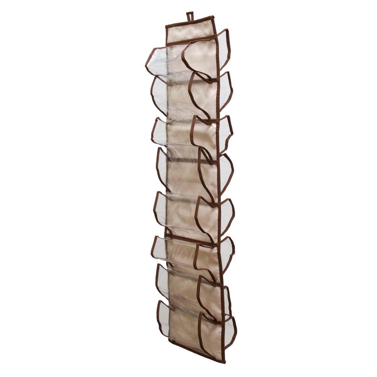 Органайзер для хранения шарфов и мелочей Homsu Bora-Bora, подвесной, 20 х 80 смZ-0307Подвесной двусторонний органайзер для хранения Homsu Bora-Bora изготовлен из высококачественного нетканого материала (полиэстер). Изделие позволяет сохранить естественную вентиляцию, а воздуху свободно проникать внутрь, не пропуская пыль. Органайзер оснащен 16 раздельными секциями. Идеально подходит для хранения разных мелочей в шкафу. Мобильность конструкции обеспечивает складывание и раскладывание одним движением. Размер органайзера: 20 х 80 см.