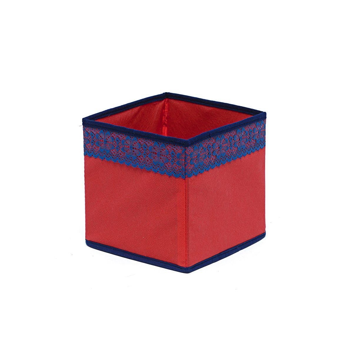 Кофр для хранения Homsu Rosso, 17 х 17 х 17 смHOM-327Кофр для хранения Homsu Rosso изготовлен из высококачественного нетканого полотна и декорирован красочным изображением. Кофр имеет одно большое отделение, где вы можете хранить различные бытовые вещи, нижнее белье, одежду и многое другое. Вставки из картона обеспечивают прочность конструкции. Стильный принт, модный цвет и качество исполнения сделают такой кофр незаменимым для хранения ваших вещей.