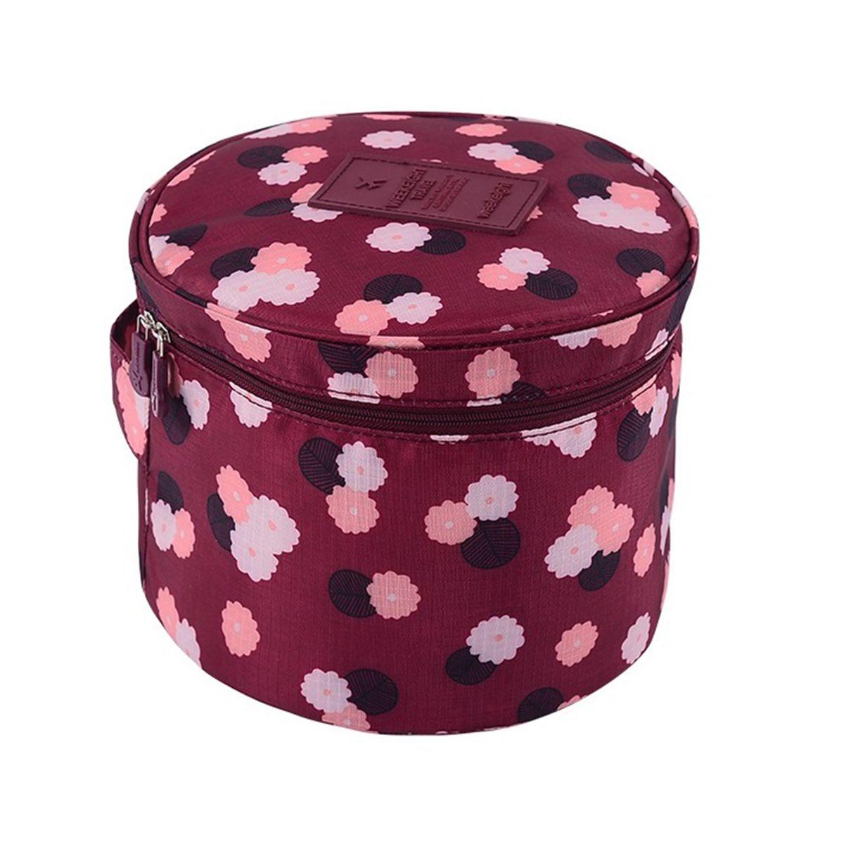 Органайзер для хранения Homsu Цветок, цвет: бордовый, белый, розовый, 19 x 19 x 14 смES-412Органайзер для хранения Homsu Цветок выполнен из высококачественного полиэстера. Изделие круглой формы имеет множество карманов внутри, что позволяет удобно организовать хранение косметики, и других мелких предметов. Органайзер обладает высоким качеством материала и стильным дизайном. Сверху органайзера имеется ручка для переноски.