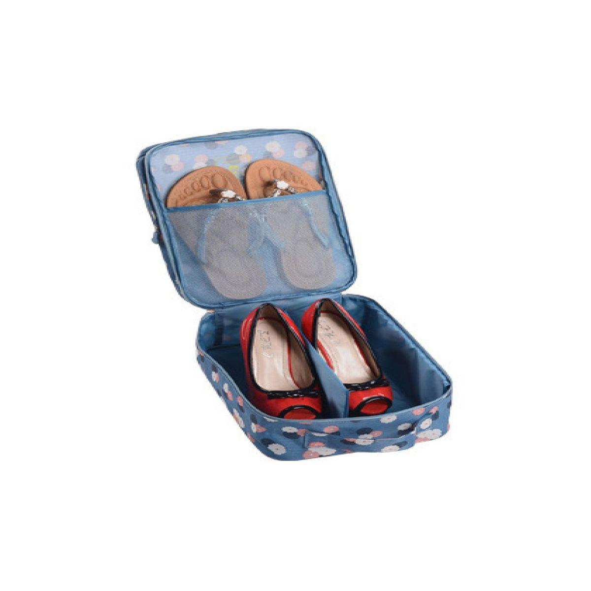 Органайзер для обуви Homsu Цветок, цвет: синий, белый, розовый, 32 x 20 x 13 смHOM-409Органайзер для обуви Homsu Цветок изготовлен из 100% полиэстера. Экономичная замена пластиковым пакетам и громоздким коробкам. Органайзер закрывается на молнию. Имеется ручка для удобной переноски. Внутри органайзер разделен на 2 отделения для обуви с дополнительным сетчатым кармашком. Очень компактный и очень удобный, такой органайзер поможет вам хранить обувь в чистоте и порядке. Размер: 32 х 20 х 13 см.