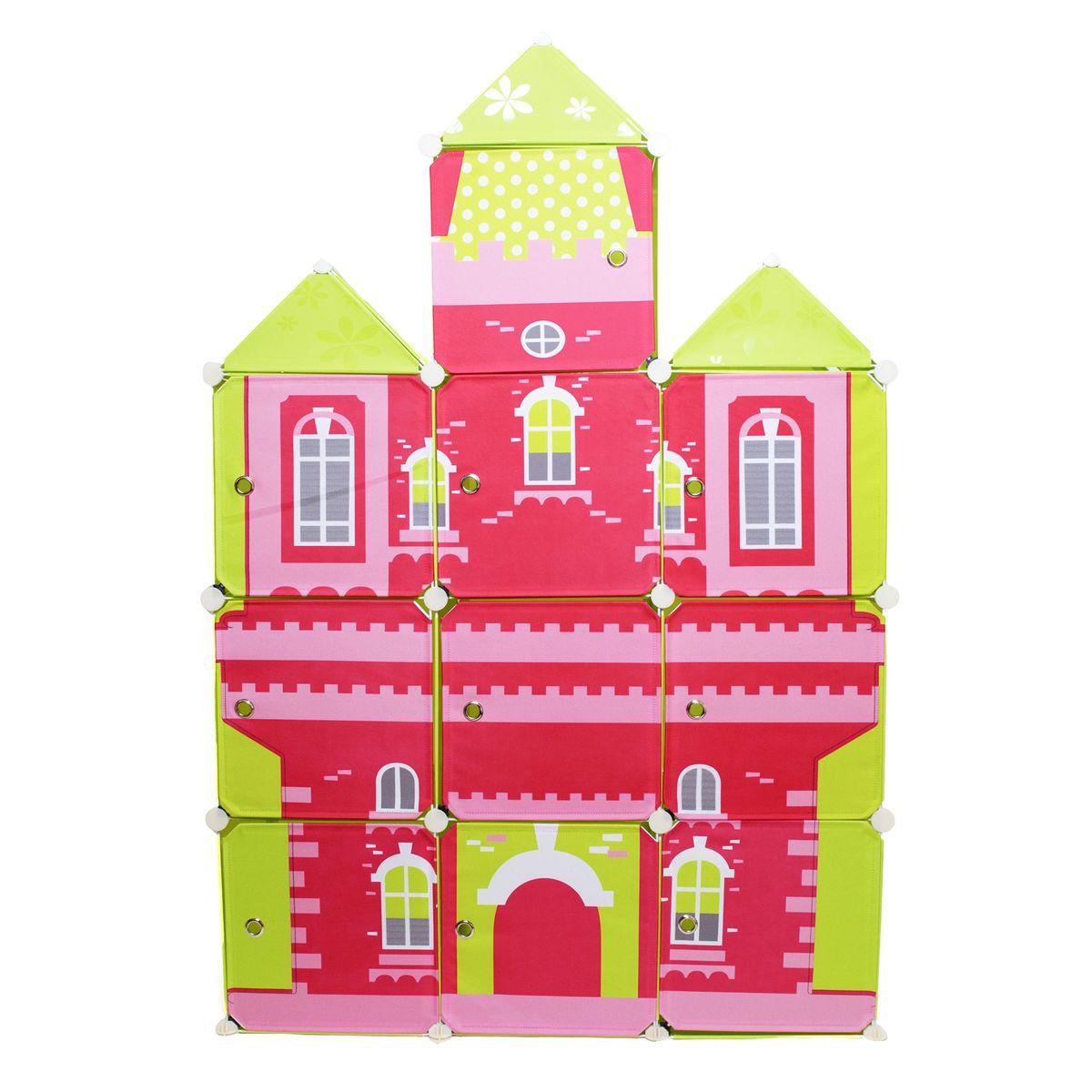 Шкаф детский модульный Homsu Домик, 111 x 39 x 163 смHOM-607Детский модульный шкаф Homsu Домик выполнен из пластика и металла. Приучить детей к порядку легко, если им нужно будет складывать вещи в яркий разноцветный домик. Детский модульный шкаф - это отличная система для хранения детских вещей. Он представляет собой несколько сборных модульных кубов, с дверцами, которые легко собираются в веселый домик красного цвета с желтыми башенками. В шкаф можно складывать игрушки, одежду и прочие детские вещи. Размер: 111 х 39 х 163 см.