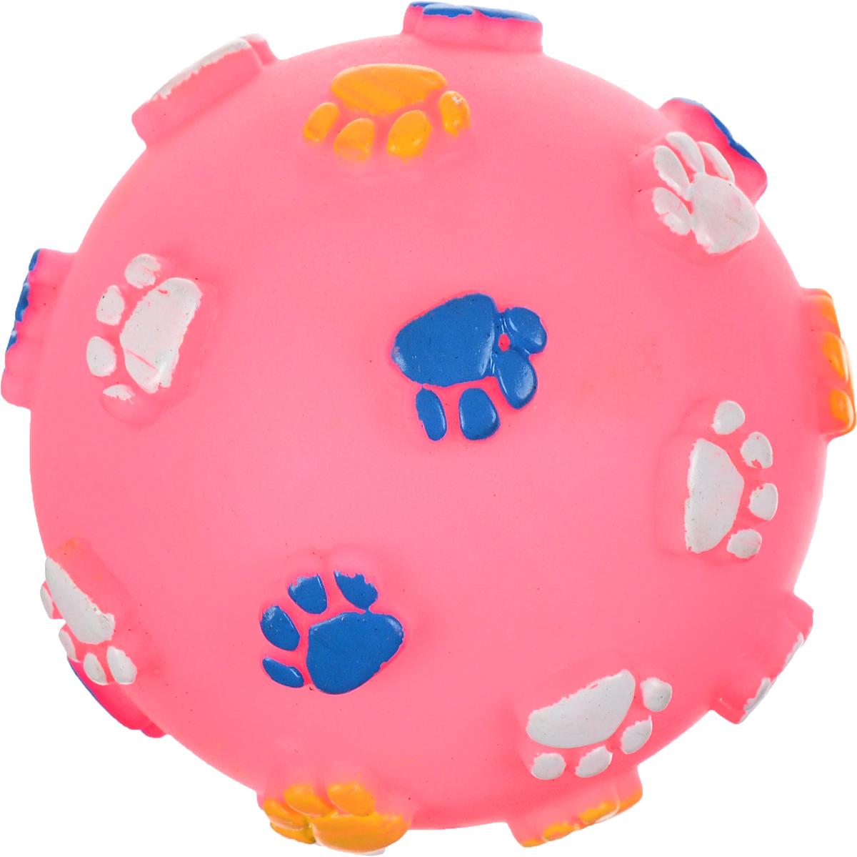 Игрушка для животных Каскад Мяч. Лапки, с пищалкой, цвет: розовый, синий, желтый, диаметр 9 см27754623_розовыйИгрушка Каскад Мяч. Лапки изготовлена из прочной и долговечной резины, которая устойчива к разгрызанию. Необычная и забавная игрушка прекрасно подойдет для собак, любящих игрушки с пищалками. Диаметр: 9 см.