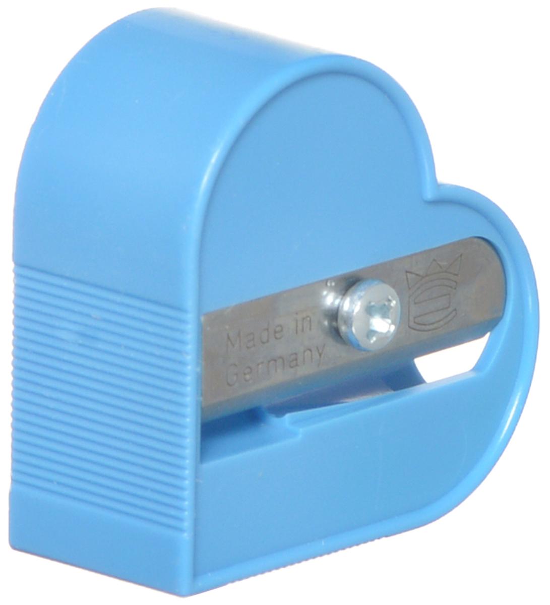 Eisen Точилка Сердце цвет голубой72523WDТочилка Eisen Сердце предназначена для затачивания классических простых и цветных карандашей.Точилка изготовлена из качественного материала и имеет рельефную область захвата. Острые лезвия обеспечивают высококачественную и точную заточку карандашей.