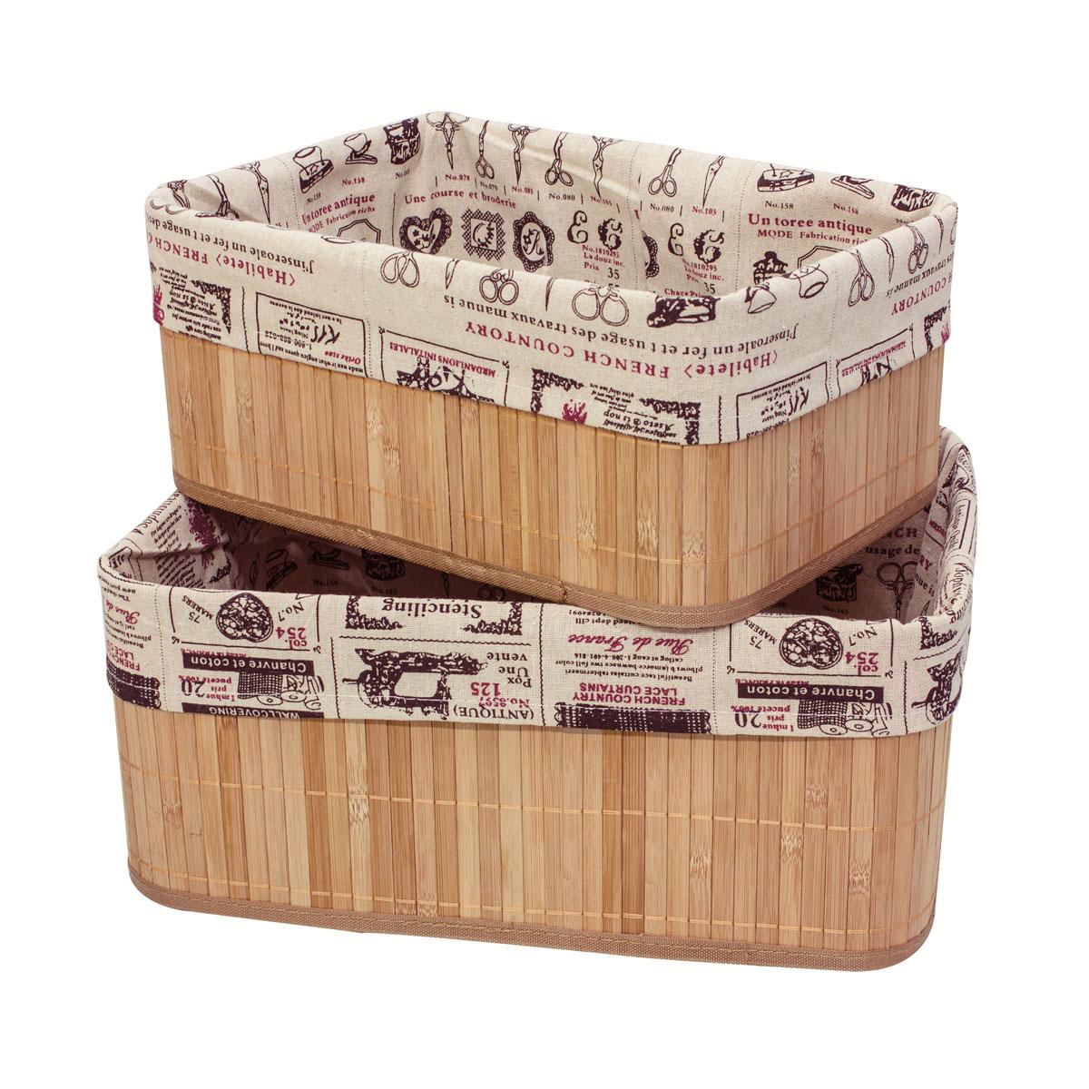 Набор коробов для хранения Ecowoo Ретро, 2 предмета, цвет: светлое деревоBBS-7Марка Ecowoo предлагает новое удобное решение для хранения полезных мелочей - набор универсальных коробов из бамбука. Прекрасная вместительность, экологичный материал и актуальный дизайн - все эти достоинства делают набор незаменимым в любом доме. Модель Ретро