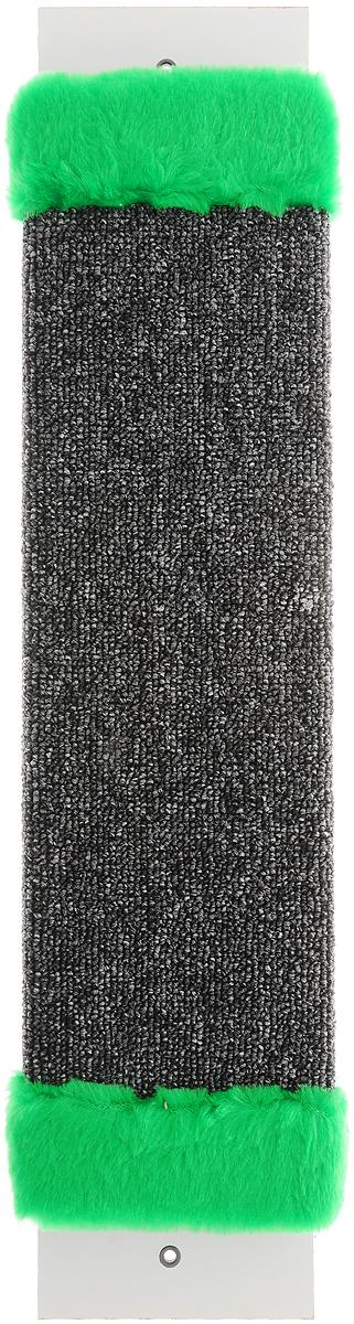 Когтеточка ЗооМарк, настенная, цвет: темно-серый, зеленый, 57 х 12 х 3,5 см0120710Настенная когтеточка ЗооМарк предназначена для стачивания когтей вашей кошки и предотвращения их врастания. Волокна ковролина обеспечивают естественный уход за когтями питомца. Когтеточка позволяет сохранить неповрежденными мебель и другие предметы интерьера.Длина когтеточки: 57 см.Длина рабочей части: 48 см.