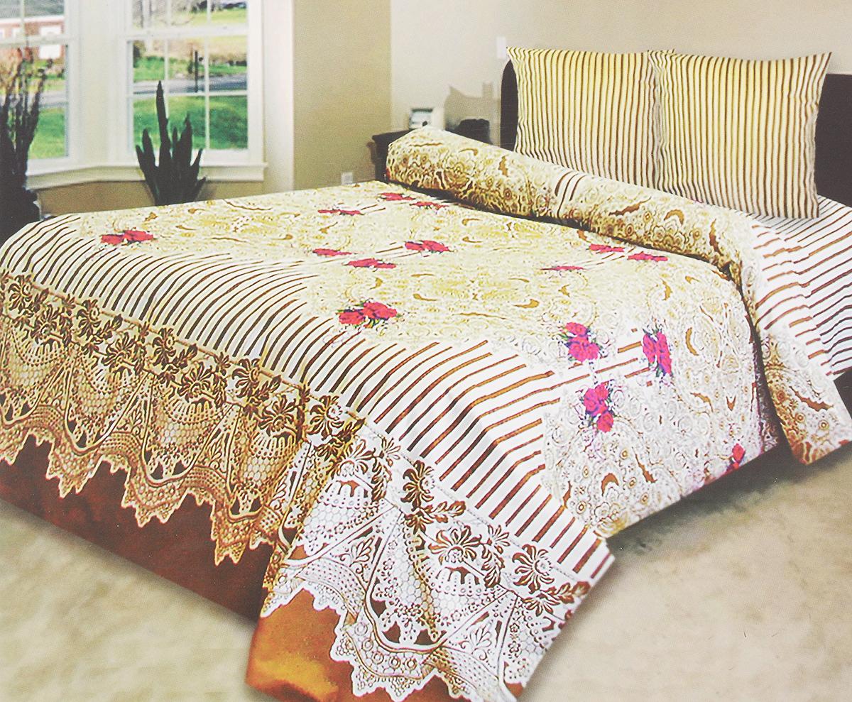 Комплект белья Катюша Ришелье, 1,5-спальный, наволочки 70х70, цвет: светло-желтый, коричневый, красныйC-129/3855Комплект постельного белья Катюша Ришелье является экологически безопасным для всей семьи, так как выполнен из бязи (100% хлопок). Комплект состоит из пододеяльника, простыни и двух наволочек. Постельное белье оформлено оригинальным рисунком и имеет изысканный внешний вид. Бязь - это ткань полотняного переплетения, изготовленная из экологически чистого и натурального 100% хлопка. Она прочная, мягкая, обладает низкой сминаемостью, легко стирается и хорошо гладится. Бязь прекрасно пропускает воздух и за ней легко ухаживать. При соблюдении рекомендуемых условий стирки, сушки и глажения ткань имеет усадку по ГОСТу, сохранятся яркость текстильных рисунков. Приобретая комплект постельного белья Катюша Ришелье, вы можете быть уверенны в том, что покупка доставит вам и вашим близким удовольствие и подарит максимальный комфорт.