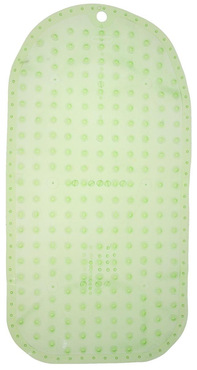 BabyOno Коврик противоскользящий для ванной цвет зеленый 70 х 35 см1346_зеленыйПротивоскользящий коврик BabyOno предназначен для детских ванночек, ванн и душевых кабин. Имеет присоски, исключающие перемещение коврика по поверхности. Для правильного закрепления коврика следует сначала наполнить ванну водой, а затем вложить коврик и равномерно прижать с каждой стороны. Во время купания ребенок должен находиться под постоянным присмотром взрослого. Перед первым и после каждого купания коврик следует промыть в теплой воде с добавлением детского мыла, ополоснуть и высушить. Изделие не является игрушкой. Хранить в месте, недоступном для детей. Не содержит фталатов. Товар сертифицирован.