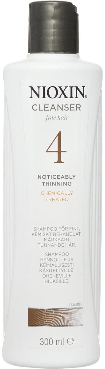 Nioxin Cleanser Очищающий шампунь (Система 4) System 4, 300 мл81274164Шампунь очищающий Система 4 Cleanser System 4 Nioxin предназначен для тонких и ослабленных волос, которые были агрессивно окрашены или подверглись химической обработке. Средство нейтрализует остатки химии и защищает волосы от внешнего влияния. Также шампунь от Ниоксин увлажняет кожу головы и заботится об интенсивности цвета окрашенных волос.