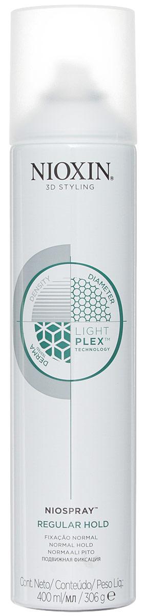 Nioxin 3D Styling Niospray Regular Hold - Лак спрей подвижной фиксации 400 мл81508303/3881Ультралёгкий спрей для гибкой управляемой фиксации и создания эффекта объемных, густых волос. Легко удаляется при расчесывании. Технология LightPlex - Для более легких и эластичных волос: Эта профессиональная технология работает как внутри, так и снаружи волоса. Кондиционирующие вещества проникают в кортекс волоса, удерживая необходимую влагу и защищая волосы от внешних воздействий окружающей среды, в то время как невесомые, гибкие полимеры обволакивают волосы для легкости укладки, без жесткой фиксации. Применение: Нанесите на чистые, сухие волосы. С помощью пальцев создайте эффект движения. Распылите лак для фиксации результата. Рекомендуется для тонких и средней текстуры волос.