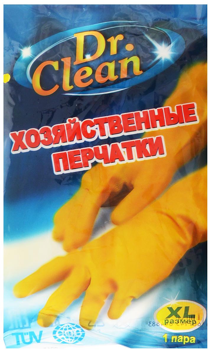 Перчатки хозяйственные Dr. Clean, цвет: желтый. Размер XL44883Универсальные перчатки Dr. Clean произведены из высококачественного латекса, бесшовные, с рифленой поверхностью рабочих частей, которая позволяет удерживать мокрые предметы. Перчатки подходят для различных видов домашних работ. Перчатки эластичны, хорошо облегают руку.