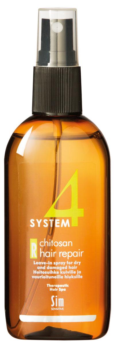 Sim Sensitive Восстановление волос R SYSTEM 4 Chitosan Hair Repair R, 100 мл5418КАК РАБОТАЕТ: хитозан восстанавливает ослабленную структуру кератинового слоя волоса, останавливает его расслоение. Гидролизованный растительный белок убирает статическое электричество на волосах. Гидролизованный коллаген, пшеничные протеины и диметиконы работают на восстановление стержня волоса. Имеет накопительный эффект. БОРЕТСЯ С: сухостью и ломкостью волос, расслоением стержня волоса, электризацией волос, отсутствием блеска волос, поврежденностью и стрессом волос после окрашивания, химиче-, ской обработки, частого воздействия горячих температур (фен,утюжки)