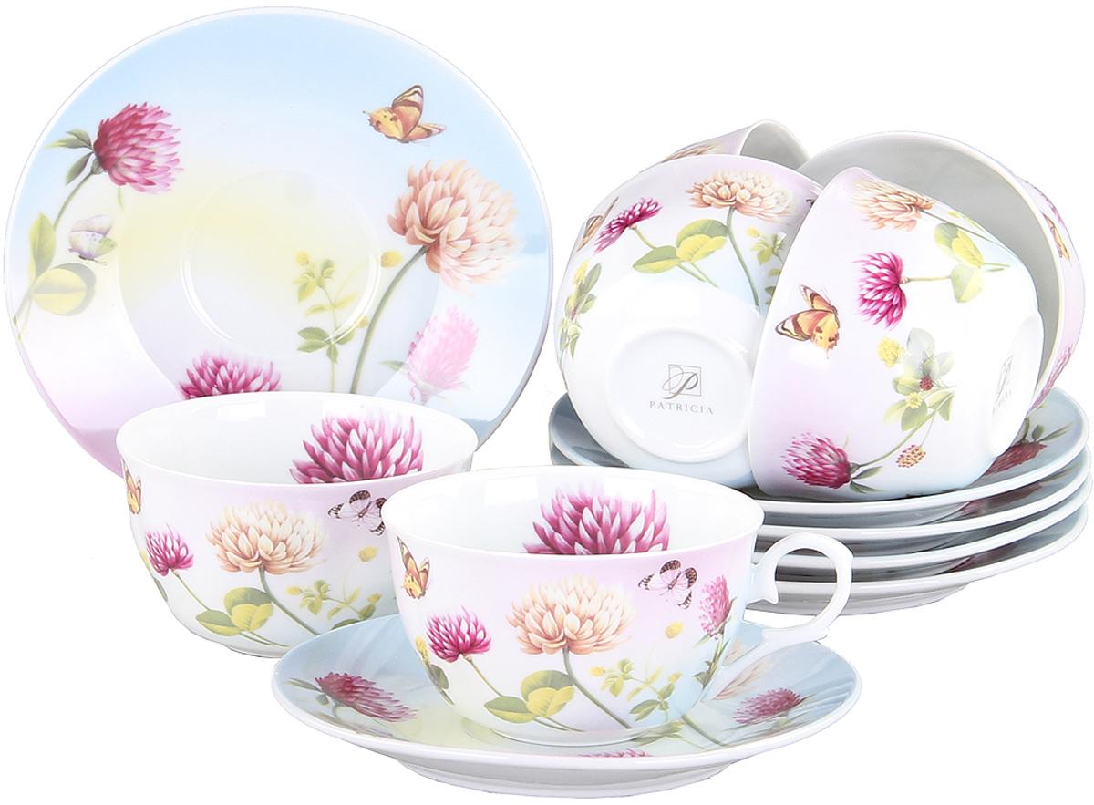 Чайный сервиз Patricia, 12 предметов. IM56-1022115510Чайный набор выполнен из фарфора высшего качества,украшен ярким цветочным узором. Этот набор обязательно впишется в любой уголок вашей кухни и станет стильным дополнением к ней.