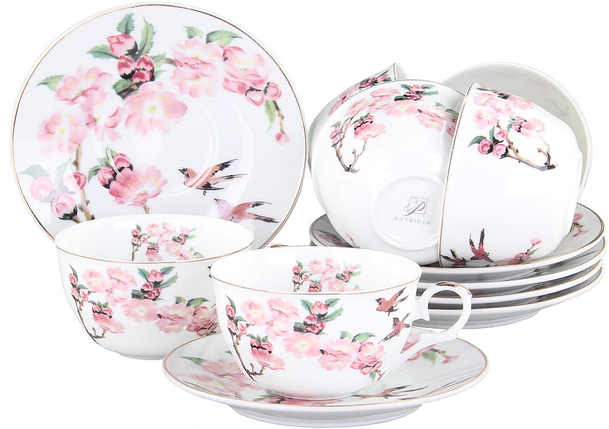 Чайный сервиз Patricia, 12 предметов. IM56-1122IM56-1122Чайный набор выполнен из фарфора высшего качества,украшен ярким цветочным узором. Этот набор обязательно впишется в любой уголок вашей кухни и станет стильным дополнением к ней.