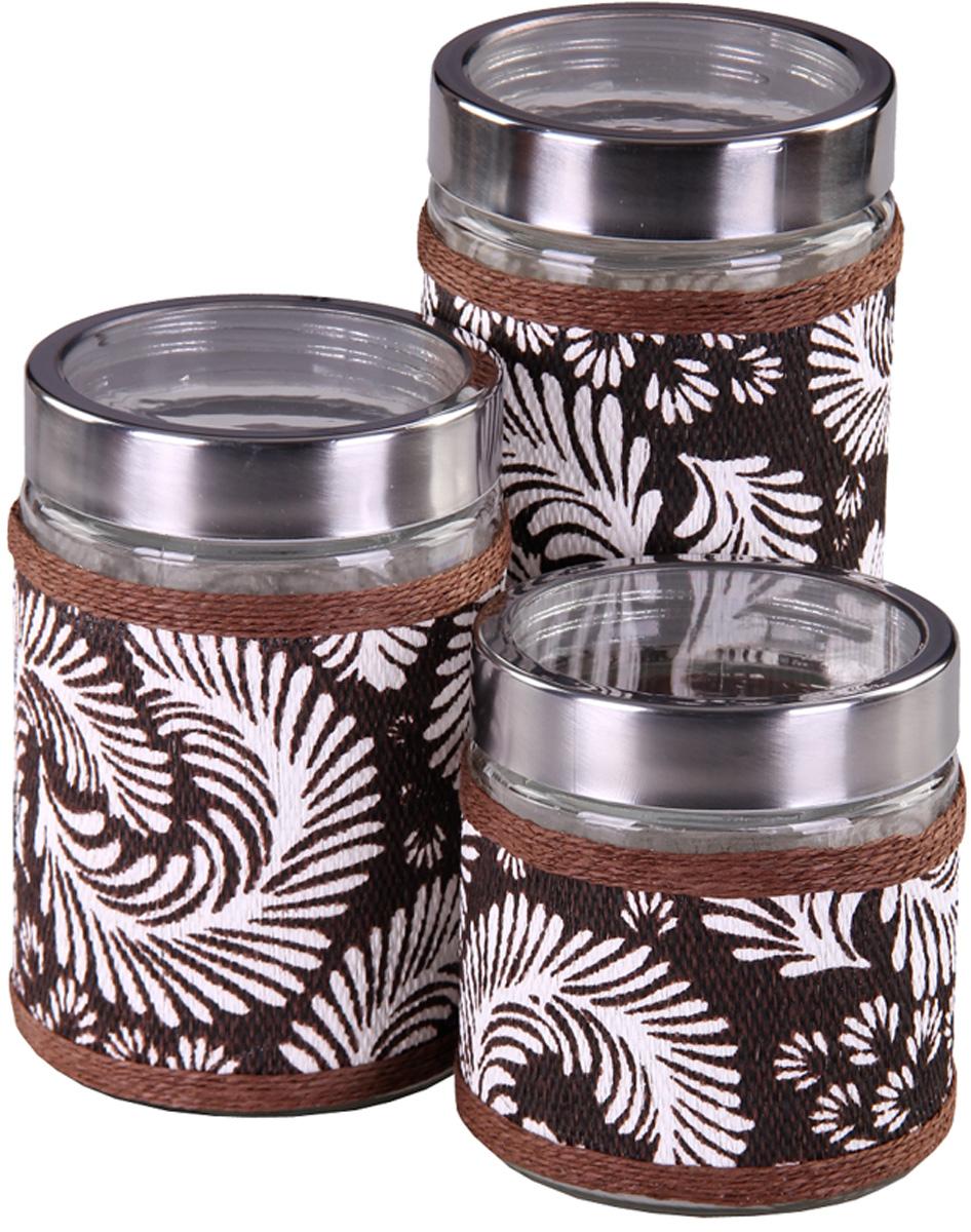 Набор банок Patricia, 3 предмета. IM99-3912IM99-3912Набор для сыпучих продуктов включает в себя 3 банки различных размеров. Плотно закручивающая крышка на банке позволит хранить чай,кофе и многие другие сыпучие продукты. А дизайн таких банок украсит кухню любой хозяйки.