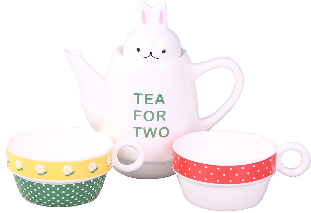 Набор Patricia: чайник, 2 чашки, 500 мл. IM99-0545/3IM99-0545/3Набор выполнен из керамики высокого качества. Он состоит из чайника и 2-х чашек. Такой набор станет прекрасным дополнением любого стола.