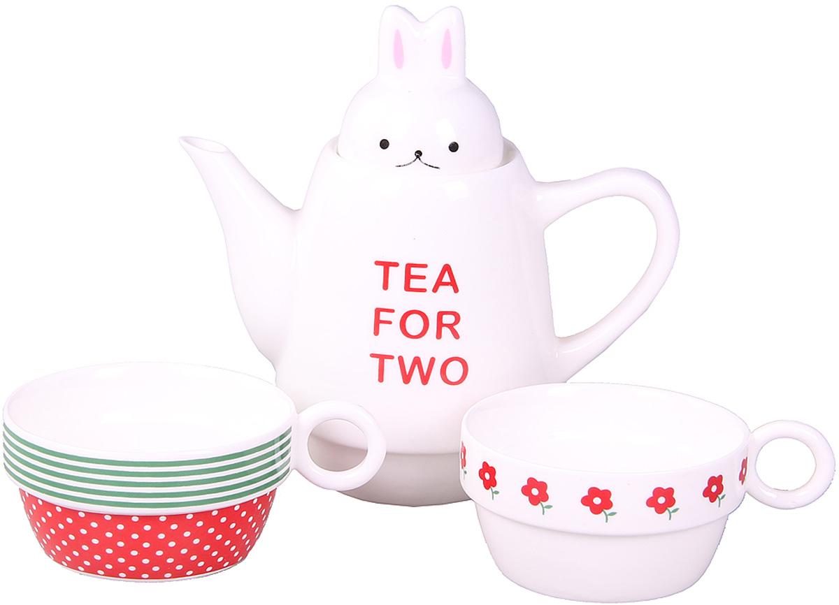 Набор чайный Patricia, 500 мл, 3 предмета. IM99-0545/2115610Набор выполнен из керамики высокого качества. Он состоит из чайника и 2-х чашек. Такой набор станет прекрасным дополнением любого стола. Объем чайника: 500 мл. Объем чашек: 150 мл.