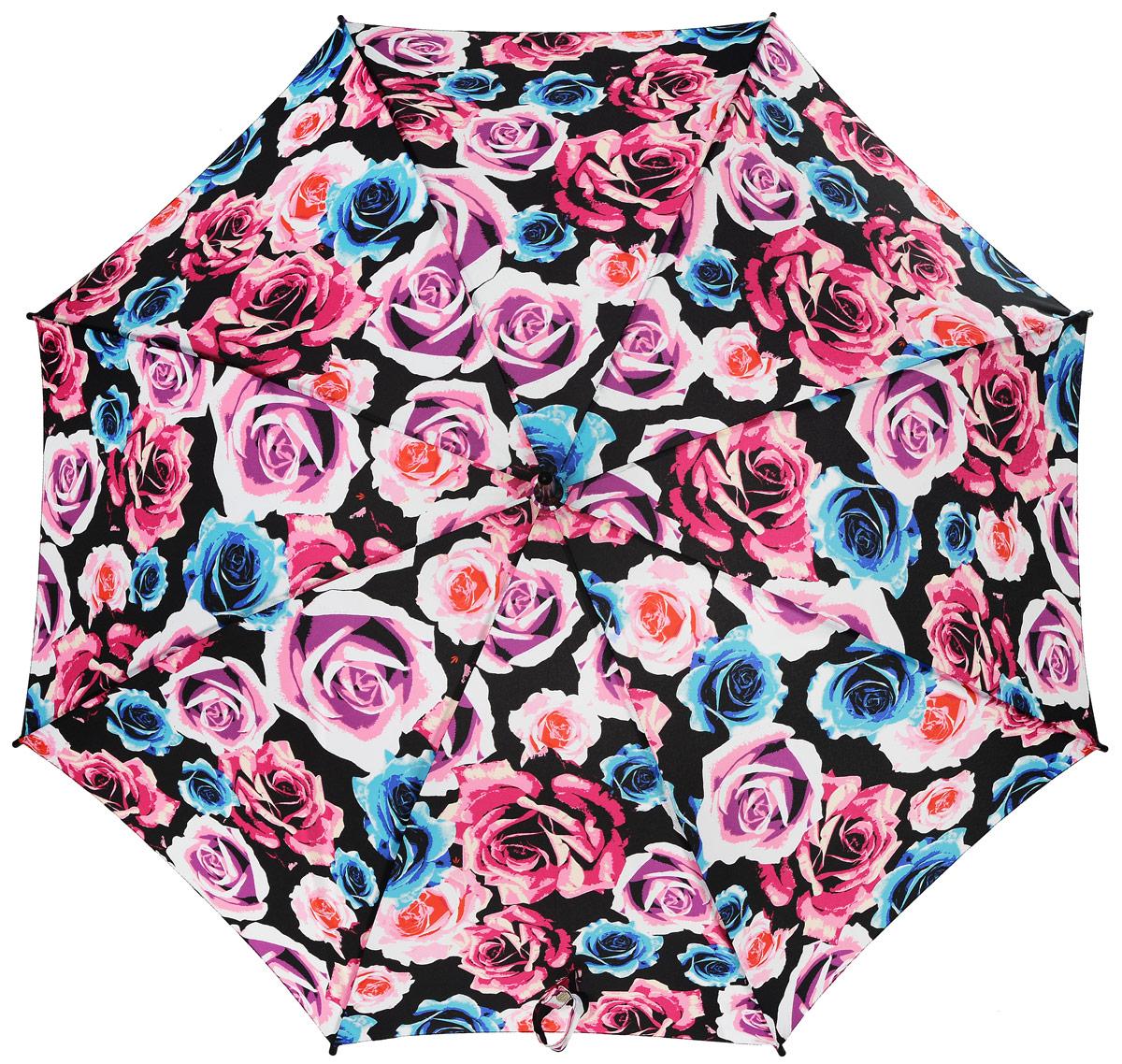 Зонт женский трость Fulton, расцветка: розы. L056-3040 PopRoseL056-3040 PopRoseСтильный зонт-трость Fulton даже в ненастную погоду позволит вам оставаться стильной и элегантной. Каркас зонта включает 8 спиц из фибергласса и состоит из стержня, изготовленного из прочной и ветроустойчивой стали. Купол зонта выполнен из высококачественного полиэстера. Рукоятка закругленной формы, разработанная с учетом требований эргономики, изготовлена из натурального дерева. Зонт механического сложения: купол открывается и закрывается вручную до характерного щелчка. Такой зонт не только надежно защитит вас от дождя, но и станет стильным аксессуаром, который идеально подчеркнет ваш неповторимый образ.