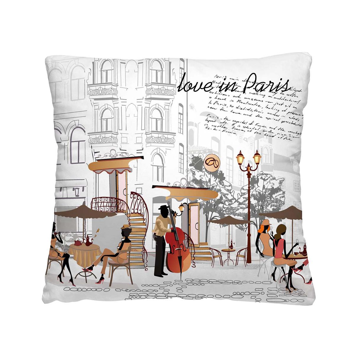 Подушка декоративная Волшебная ночь С любовью из Парижа, 40х40 см196