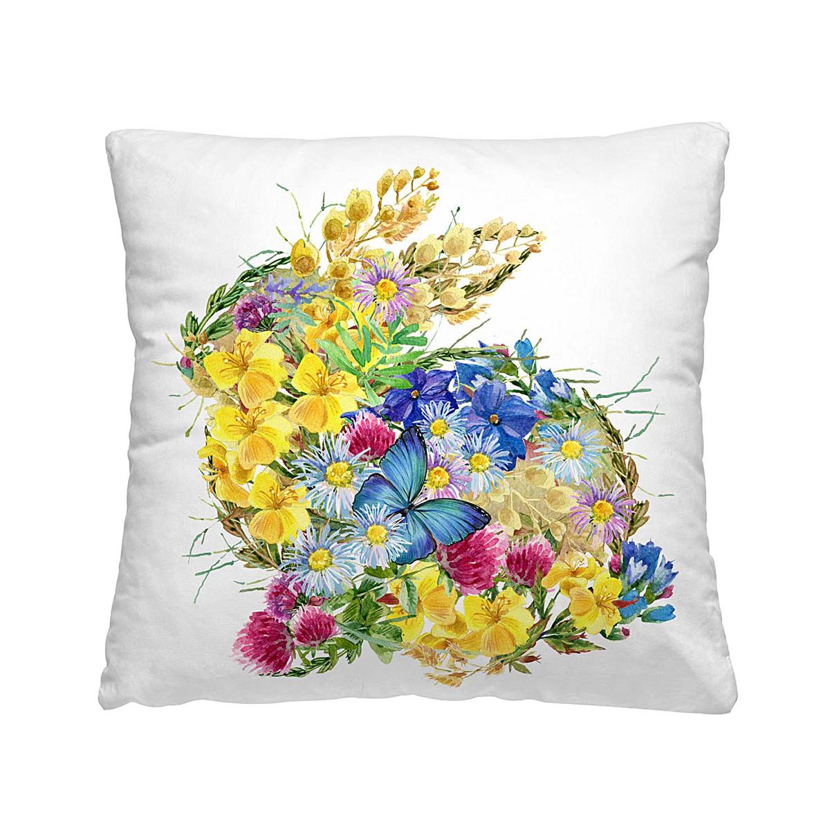 Подушка декоративная Волшебная ночь Цветочный заяц, 40х40 см197154