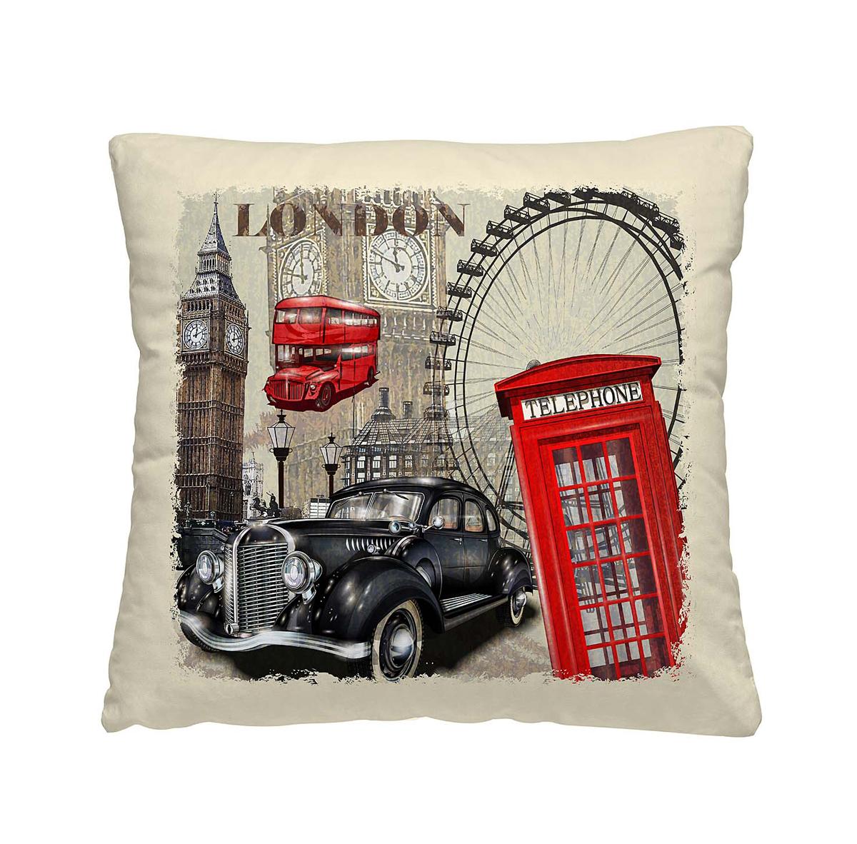 Подушка декоративная Волшебная ночь Лондон, 40х40 см197164
