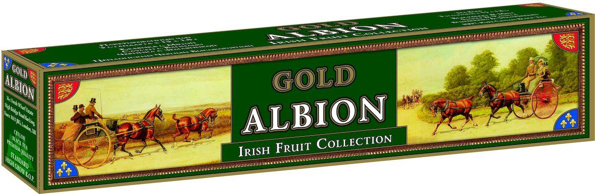 Золотой Альбион Ирландская фруктовая коллекция черный чай в пакетиках, 45 шт60402Цейлонский, черный, пакетированный чай с ароматами: ежевики и мяты, саусепа и ванили, черники и земляники. В упаковке 45 чайных пакетиков. Вес чайного пакетика - 1,8 грамма.