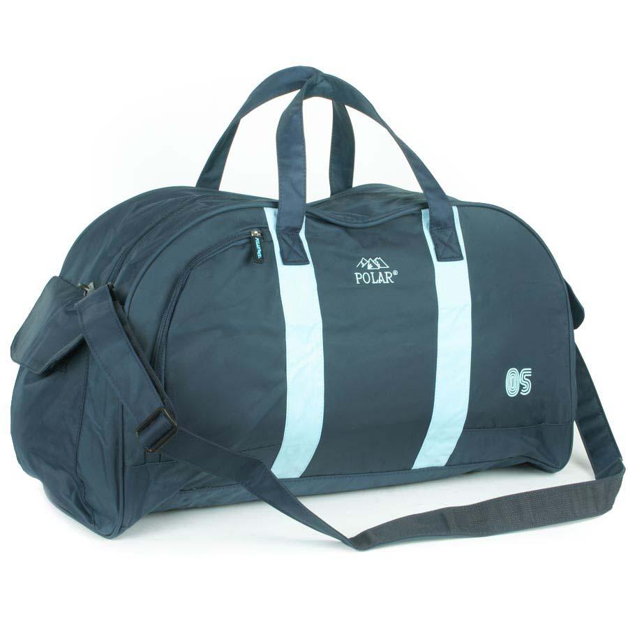 Сумка спортивная Polar, 55,5 л, цвет: синий, голубой. Г-269Г-269Материал – полиэстер с водоотталкивающей пропиткой. Вместительная спортивная сумка.Одни отдел, два боковых кармана и один карман на передней части. В комплект входит съемный плечевой ремень. Эта сумка идеально подойдет для спорта и отдыха.