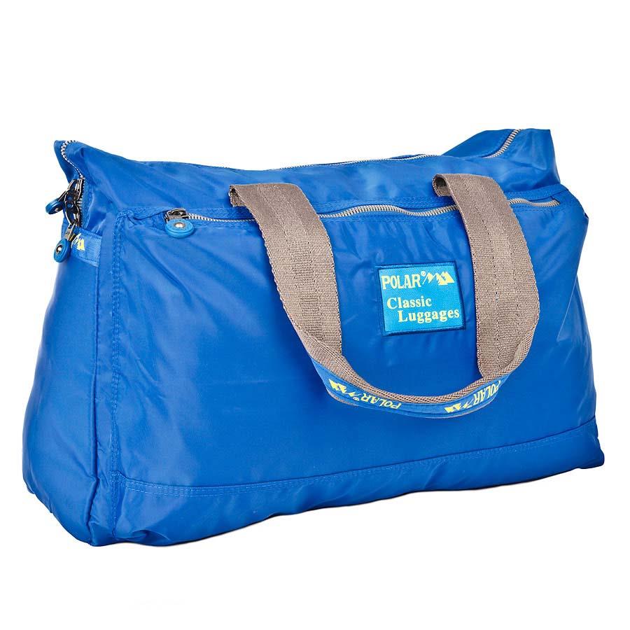 Сумка спортивная Polar, 22 л, цвет: синий. П1288-17П1288-17Спортивная сумка Polar. Сумка универсальная для спорта. Одно большое отделение -внутри большой открытый карман и карман на молнии. Два кармана спереди и сзади сумки. Высота ручек 26 см.