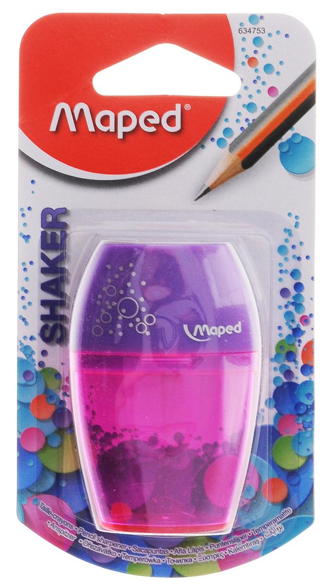 Maped Точилка Шейкер с контейнером цвет розовый сиреневый 634753