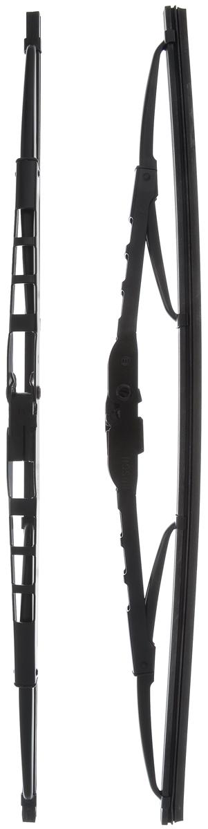 Щетка стеклоочистителя Bosch 400, каркасная, длина 40 см, 2 шт3397118610Щетка Bosch 400, выполненная по современной технологии из высококачественных материалов, оптимально подходит для замены оригинальных щеток, установленных на конвейере. Обеспечивает идеальную очистку стекла в любую погоду. Комплектация: 2 шт. TWIN - серия классических каркасных щеток от компании Bosch. Эти щетки имеют полностью металлический каркас с двойной защитой от коррозии и сверхточный профиль резинового элемента с двумя чистящими кромками.